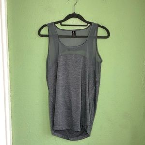 Gray Yogalicious Tank Cut Out Back Size Medium